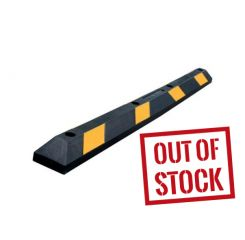 6' Economy Recycled Rubber Parking Block – Black/Yellow - Hardware Included