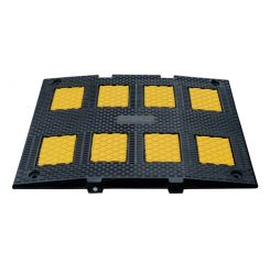 Recycled Rubber Speed Hump – Yellow / Black Single Lane or Double Lane