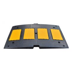 Heavy Duty Rubber Speed Hump – Yellow / Black – Low Profile Speed Bump