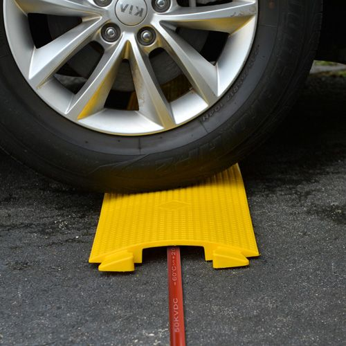 2 Channel Cable100*57cm Cover Ramp Protector Thermoplastic Vehicle Protector